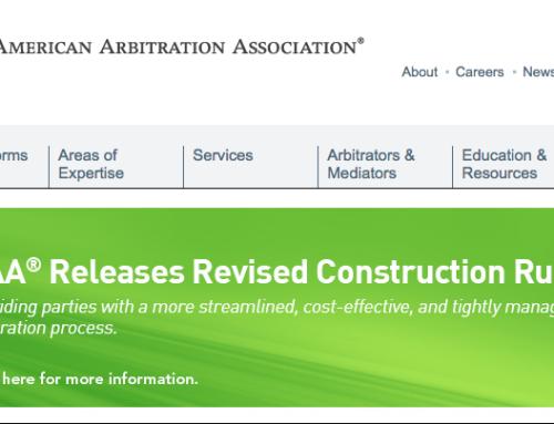 AAA – Construction Arbitration Rules