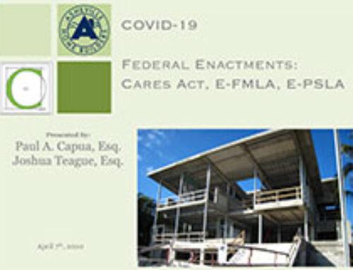 AHBA Presentation on COVID-19 Federal Enactments